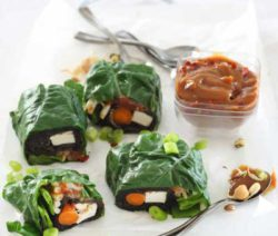 Leafy Wraps With Spicy Peanut sauce