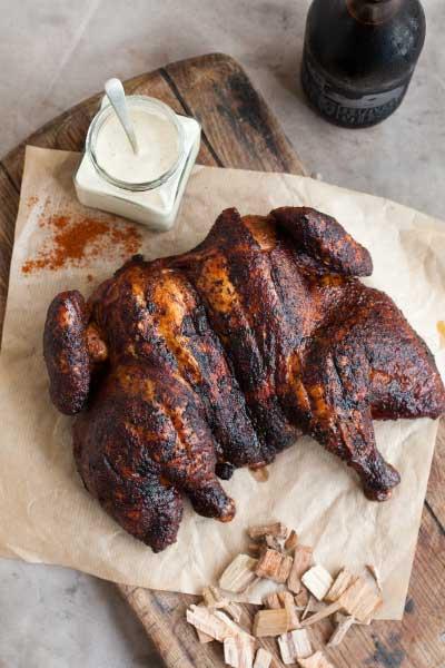 Smokey spring chicken