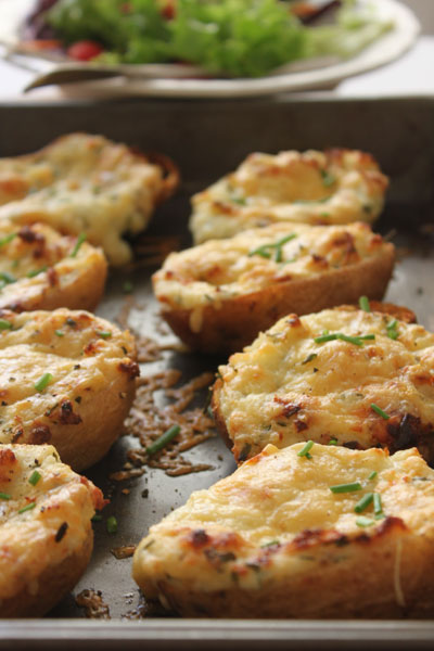 Gruyère and Chive Potato Skins