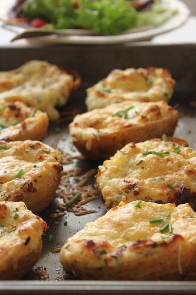 Best Braai Salads gruyere & Chive Potato Skins