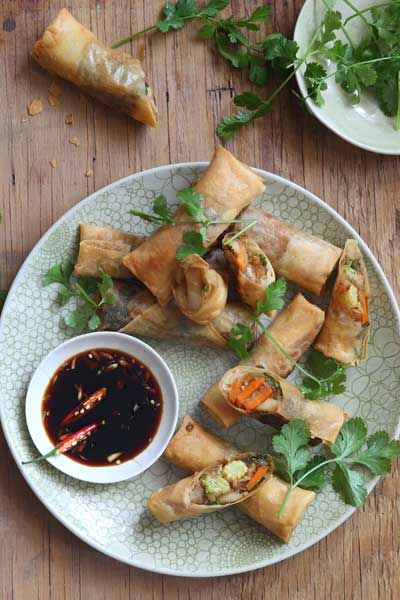 Asian Ingredients - vegetable spring rolls