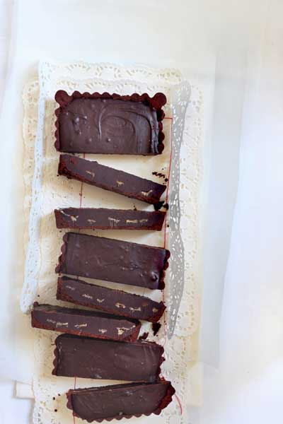 recipes with chocolate - Chocolate Ganache Ginger Tart