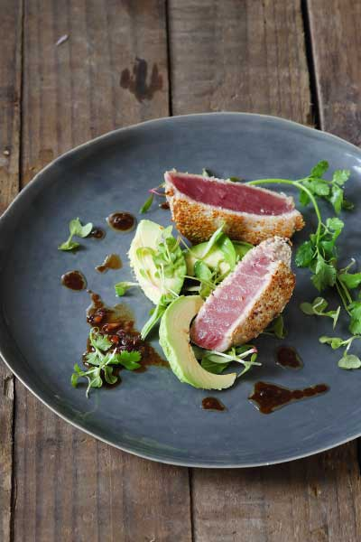 healthy fish recipes - oriental-tuna-tagliata