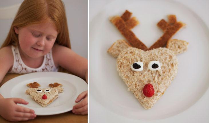 Christmas Cooking with Kids - Rudolph Reindeer Sarmies
