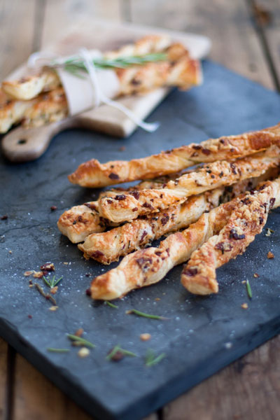 herb cheese bacon straws