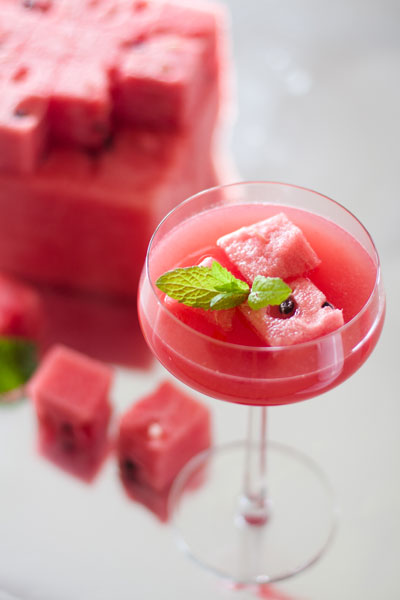 Watermelon Recipes Watermelon and Coconut Cocktail