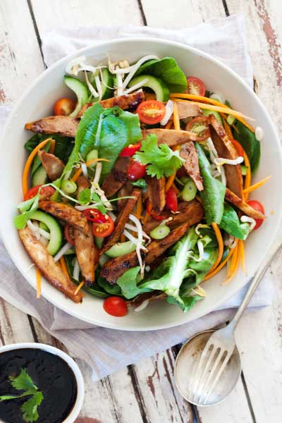 Vegan Asian Quorn Salad
