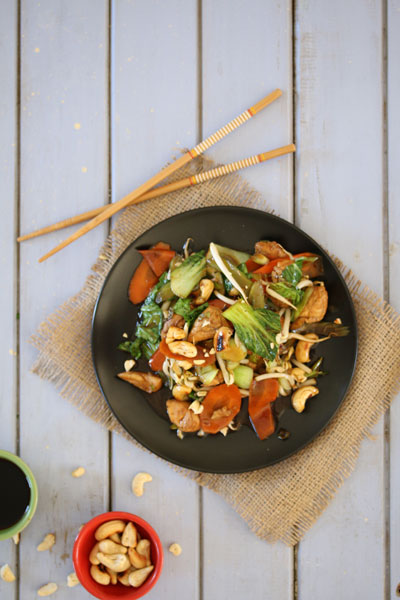 Cashew Nut Chicken in a Flash
