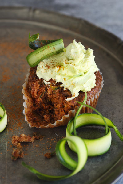 Autumn in South Africa courgette cupcakes