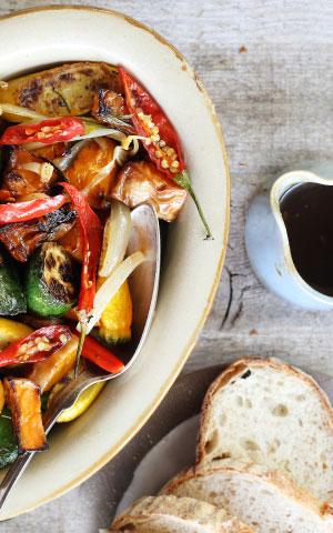 Oven-roasted Squash with Honey, Garlic & Chilli recipe