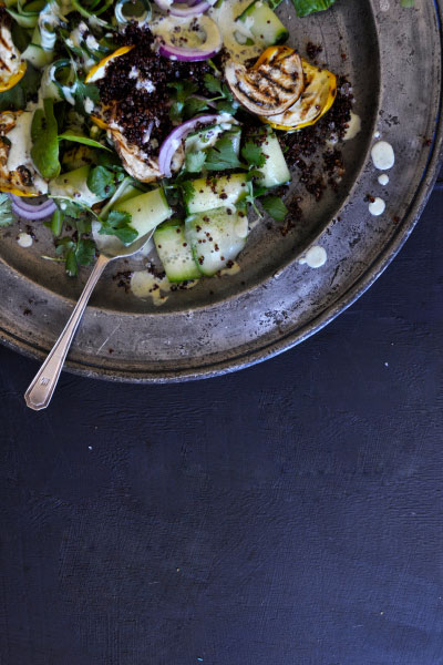 Autumn in South Africa aubergine salad