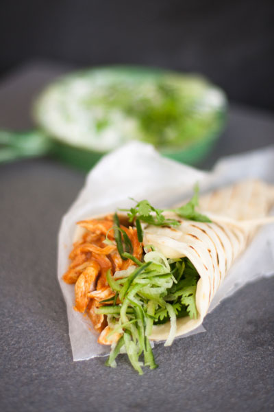 Simple Chicken Curry with Homemade Wraps recipe
