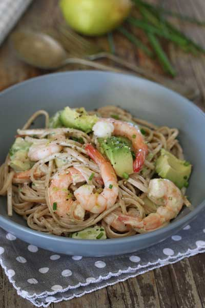 Prawn & Avocado Linguini Recipe