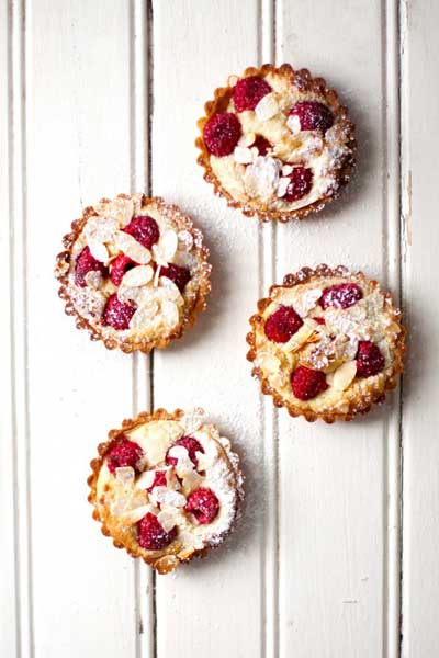 Raspberry Frangipane Tarts
