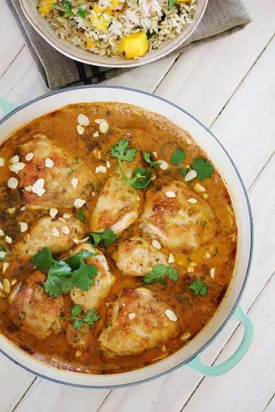 Chicken Roasted in Satay Curry Sauce