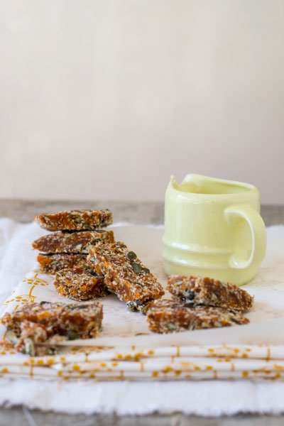 Apricot & Pumpkin Seed Snack Bars Recipe