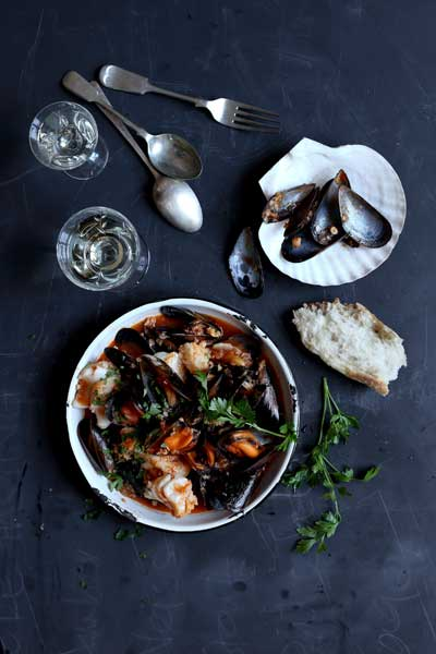 Hake and Mussel Hot Pot