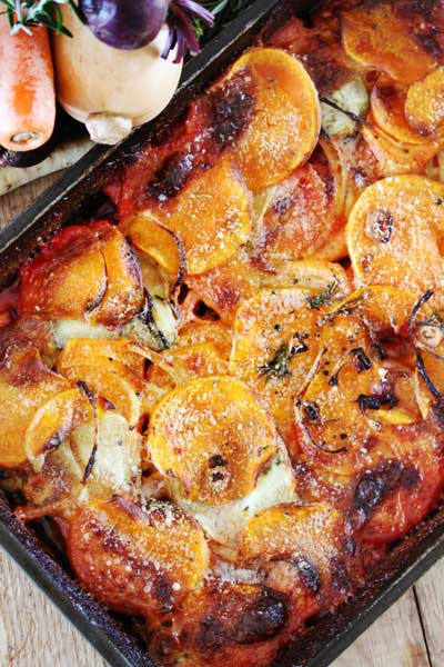 Hearty Root Vegetable Gratin