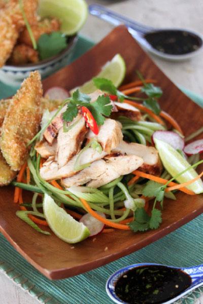 Teriyaki Chicken & Tempura Avocado recipe
