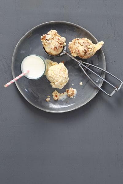 Tipsy Tart and Custard Ice Cream