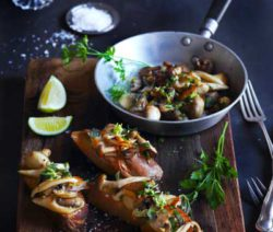 Garlic and Sage Wild Mushrooms on Toast
