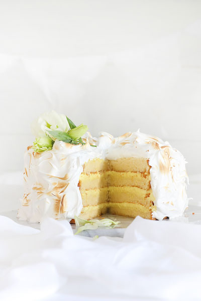 Coconut Cake with Lemon & Marshmallow Recipe