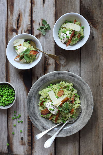 Best Cheese Recipes Pea Pancetta Mascarpone Risotto