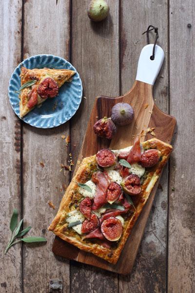 Prosciutto, Fig & Mozzarella Tart Recipe