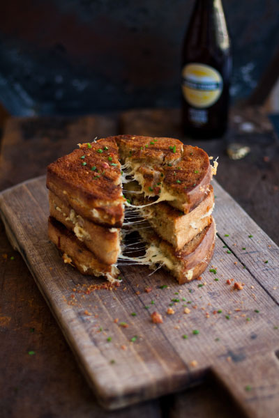 The ultimate toastie, grilled cheese sandwich