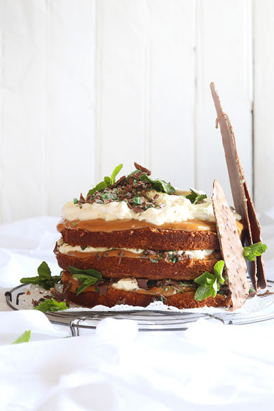 south african heritage day recipes - peppermint crisp cake
