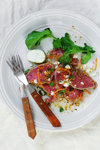 Beef Carpaccio with Goats Cheese
