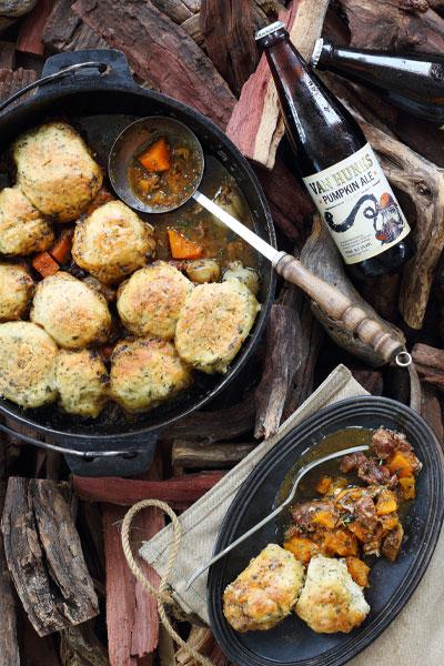 Beef Pumpkin Potjie With Feta Herb Dumpling