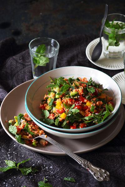 easy vegan recipes kisir salad