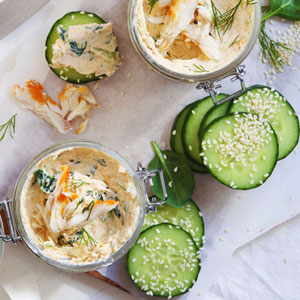 Spinach-&-Snoek-Paté-with-Sesame-crusted-Cucumber_300x300