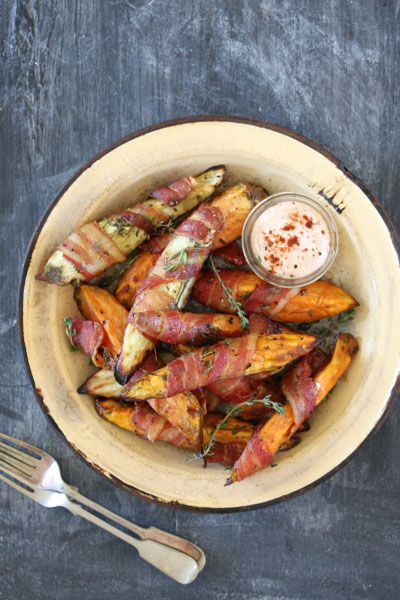 Best Braai Salads Sweet Potato Wedges Wrapped In bacon