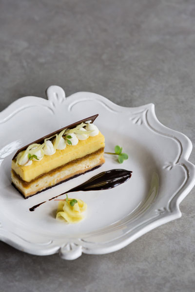 Ginger Custard Delice with Pickled Ginger