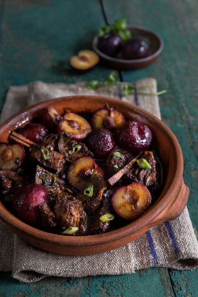 Autumn in South Africa indonesian short ribs with plums