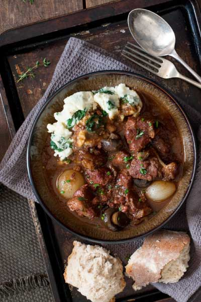 Beer Recipes Beef & Mushroom Stout Stew with Colcannon