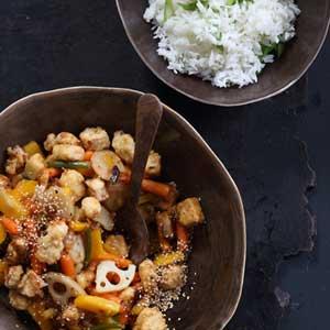 Asian-Orange-'Chicken'-&-Stir-Fried-Vegetables