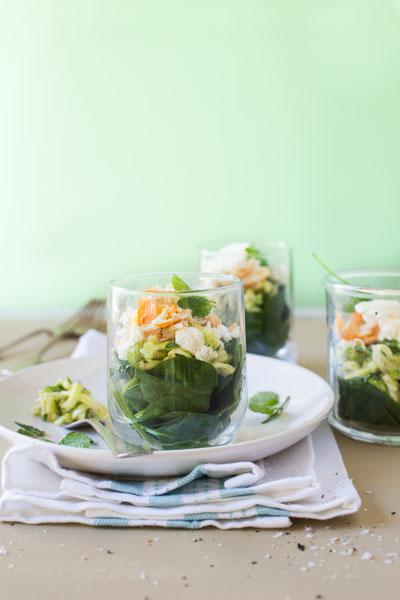 Baby Marrow, Smoked Snoek & Spinach Salad