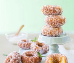 Mini Coconut and Almond Doughnuts