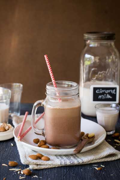 Nutty Hot Choc with homemade Almond Milk | Crush Mag