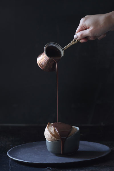 Chocolate Soufflé With Hot Chocolate Sauce