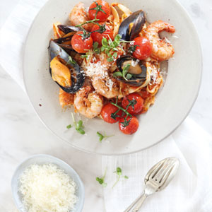 Prawn and Mussel Pasta