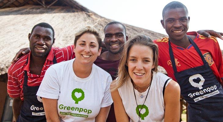 Amanda Lewis with Greenpop