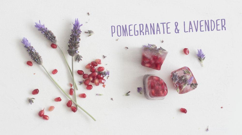 Lavender_Pomegranate Ice Blocks
