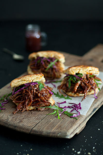 Mexican Food - Chipotle Beef Brisket with Cheddar Biscuits