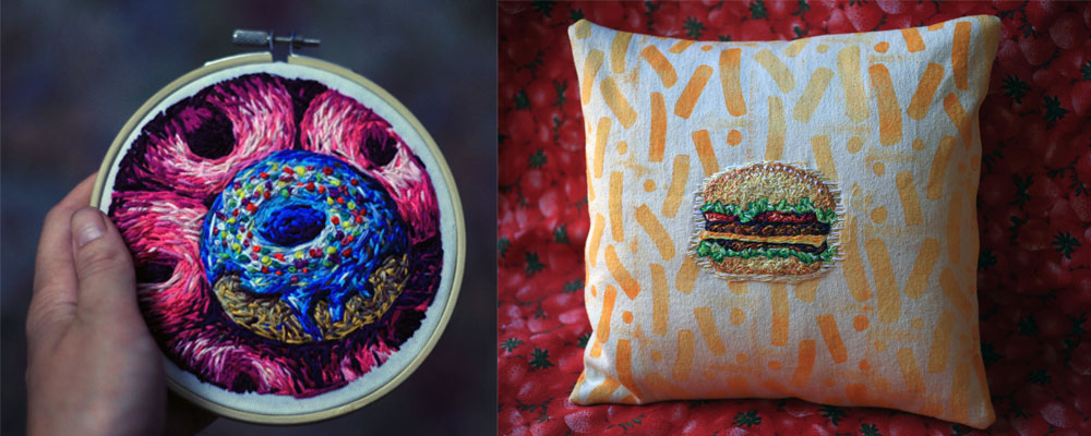 Embroidery Art by Danielle Clough