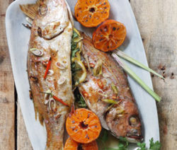 Whole Baked Thai style Fish