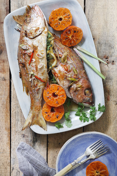 Whole Baked Thai style Fish